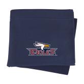 Navy Sweatshirt Blanket-Eagle Head w/ Eagles