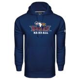 Under Armour Navy Performance Sweats Team Hoodie-Baseball