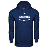 Under Armour Navy Performance Sweats Team Hoodie-Texarkana Baseball Plate Stacked