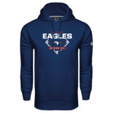 Under Armour Navy Performance Sweats Team Hoodie-TAMUT Eagles Baseball Diamond