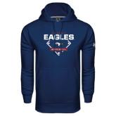 Under Armour Navy Performance Sweats Team Hoodie-TAMUT Eagles Baseball Diamond