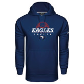 Under Armour Navy Performance Sweats Team Hoodie-Eagles Soccer Half Ball