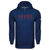Under Armour Navy Performance Sweats Team Hoodie-Arched TAMUT Eagles