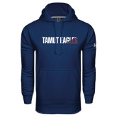 Under Armour Navy Performance Sweats Team Hoodie-TAMUT Eagles Two-Tone