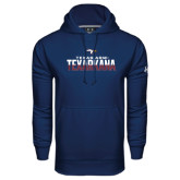 Under Armour Navy Performance Sweats Team Hoodie-Texas A&M-Texarkana Two-Tone