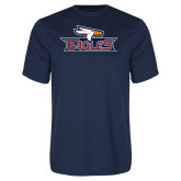 Performance Navy Tee-Eagle Head w/ Eagles