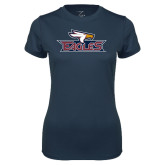 Ladies Syntrel Performance Navy Tee-Eagle Head w/ Eagles