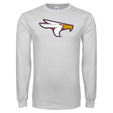 White Long Sleeve T Shirt-Eagle Head