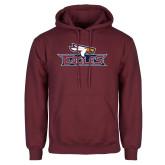 Maroon Fleece Hoodie-Eagle Head w/ Eagles