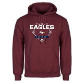 Maroon Fleece Hoodie-TAMUT Eagles Baseball Diamond