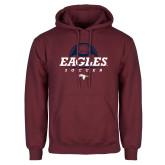 Maroon Fleece Hoodie-Eagles Soccer Half Ball