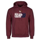 Maroon Fleece Hoodie-Texas A&M Texarkana Tennis Flat