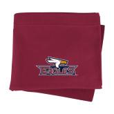 Maroon Sweatshirt Blanket-Eagle Head w/ Eagles