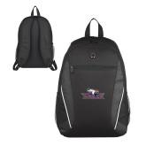Atlas Black Computer Backpack-Eagle Head w/ Eagles