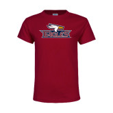 Youth Maroon T Shirt-Eagle Head w/ Eagles