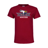 Youth Maroon T Shirt-Soccer
