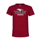 Youth Maroon T Shirt-Tennis