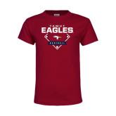 Youth Maroon T Shirt-TAMUT Eagles Baseball Diamond