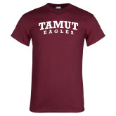 Maroon T Shirt-Arched TAMUT Eagles