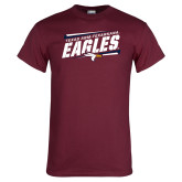Maroon T Shirt-Slanted Texas A&M-Texarkana Eagles