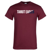 Maroon T Shirt-TAMUT Eagles Two-Tone