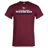 Maroon T Shirt-Texas A&M-Texarkana Two-Tone