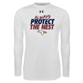 Under Armour White Long Sleeve Tech Tee-Always Protect The Nest