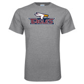 Grey T Shirt-Eagle Head w/ Eagles