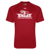 Under Armour Cardinal Tech Tee-Eagle Head w/ Eagles Stacked