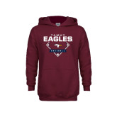 Youth Maroon Fleece Hoodie-TAMUT Eagles Baseball Diamond