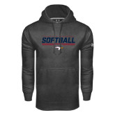 Under Armour Carbon Performance Sweats Team Hoodie-Softball Stencil Flat