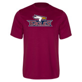 Performance Maroon Tee-Eagle Head w/ Eagles