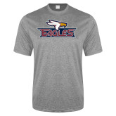 Performance Grey Heather Contender Tee-Eagle Head w/ Eagles