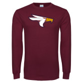 Maroon Long Sleeve T Shirt-Eagle Head