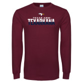 Maroon Long Sleeve T Shirt-Texas A&M-Texarkana Two-Tone