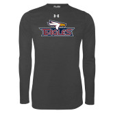 Under Armour Carbon Heather Long Sleeve Tech Tee-Eagle Head w/ Eagles