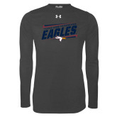 Under Armour Carbon Heather Long Sleeve Tech Tee-Slanted Texas A&M-Texarkana Eagles