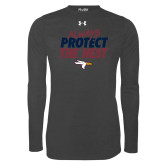 Under Armour Carbon Heather Long Sleeve Tech Tee-Always Protect The Nest