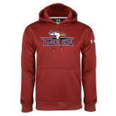 Under Armour Cardinal Performance Sweats Team Hoodie-Eagle Head w/ Eagles