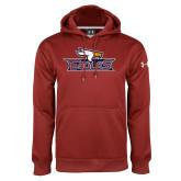 Under Armour Cardinal Performance Sweats Team Hoodie-Eagle Head w/ Eagles