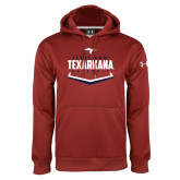 Under Armour Cardinal Performance Sweats Team Hoodie-Texarkana Baseball Plate Stacked