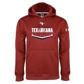 Under Armour Cardinal Performance Sweats Team Hoodie-Texarkana Baseball Plate Stacked