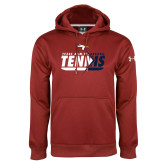 Under Armour Cardinal Performance Sweats Team Hoodie-Texas A&M Texarkana Tennis Flat