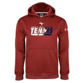 Under Armour Cardinal Performance Sweats Team Hoodie-Texas A&M Texarkana Tennis Flat