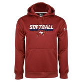 Under Armour Cardinal Performance Sweats Team Hoodie-Softball Stencil Flat