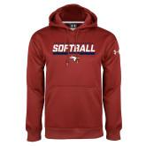 Under Armour Cardinal Performance Sweats Team Hoodie-Softball Stencil Flat