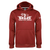 Under Armour Cardinal Performance Sweats Team Hoodie-Eagle Head w/ Eagles Stacked