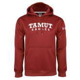 Under Armour Cardinal Performance Sweats Team Hoodie-Arched TAMUT Eagles