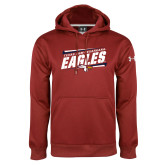 Under Armour Cardinal Performance Sweats Team Hoodie-Slanted Texas A&M-Texarkana Eagles