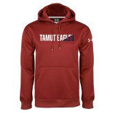Under Armour Cardinal Performance Sweats Team Hoodie-TAMUT Eagles Two-Tone